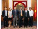 Thứ trưởng Huỳnh Vĩnh Ái tiếp Giám đốc Tổ chức Xúc tiến Xây dựng TP TT Văn hóa Châu Á