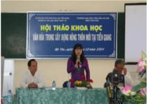 Hội thảo khoa học Văn hóa trong xây dựng nông thôn mới tại Tiền Giang